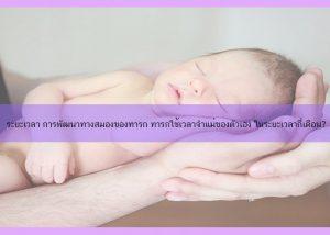 ระยะเวลา การพัฒนาทางสมองของทารก ทารกใช้เวลาจำแม่ของตัวเอง ในระยะเวลากี่เดือน?