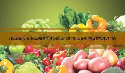 ประโยชน์ ของผลไม้ที่ดีสำหรับร่างกายมนุษย์และดีต่อสุขภาพ